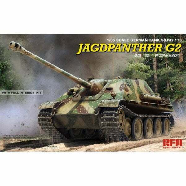 Rye Field Model 1 35 Sd.Kfz.173 Jagdpanther G2 with full interior, Military Kit