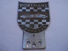 C1950S VINTAGE PORTMANS CAR CLUB CAR BADGE