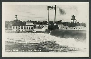 Dexter-NY-c-1940s-RPPC-Real-Photo-Postcard-FRONTENAC-PAPER-CO-MILL
