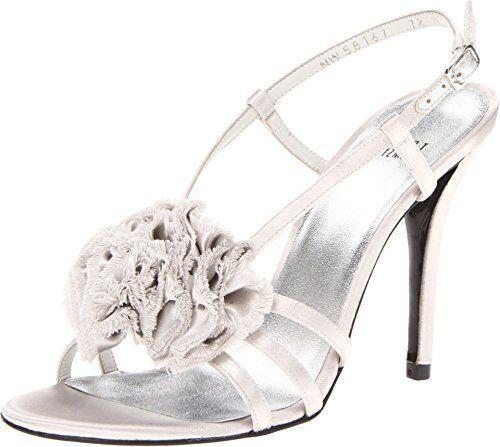 NIB Stuart Weitzman Senorita Mercury Satin Leather High Heel Sandal Bridal shoes7