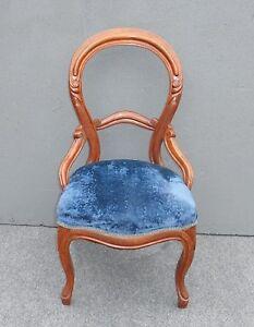 Image Is Loading Unique Vintage French Provincial Style Blue Velvet ACCENT