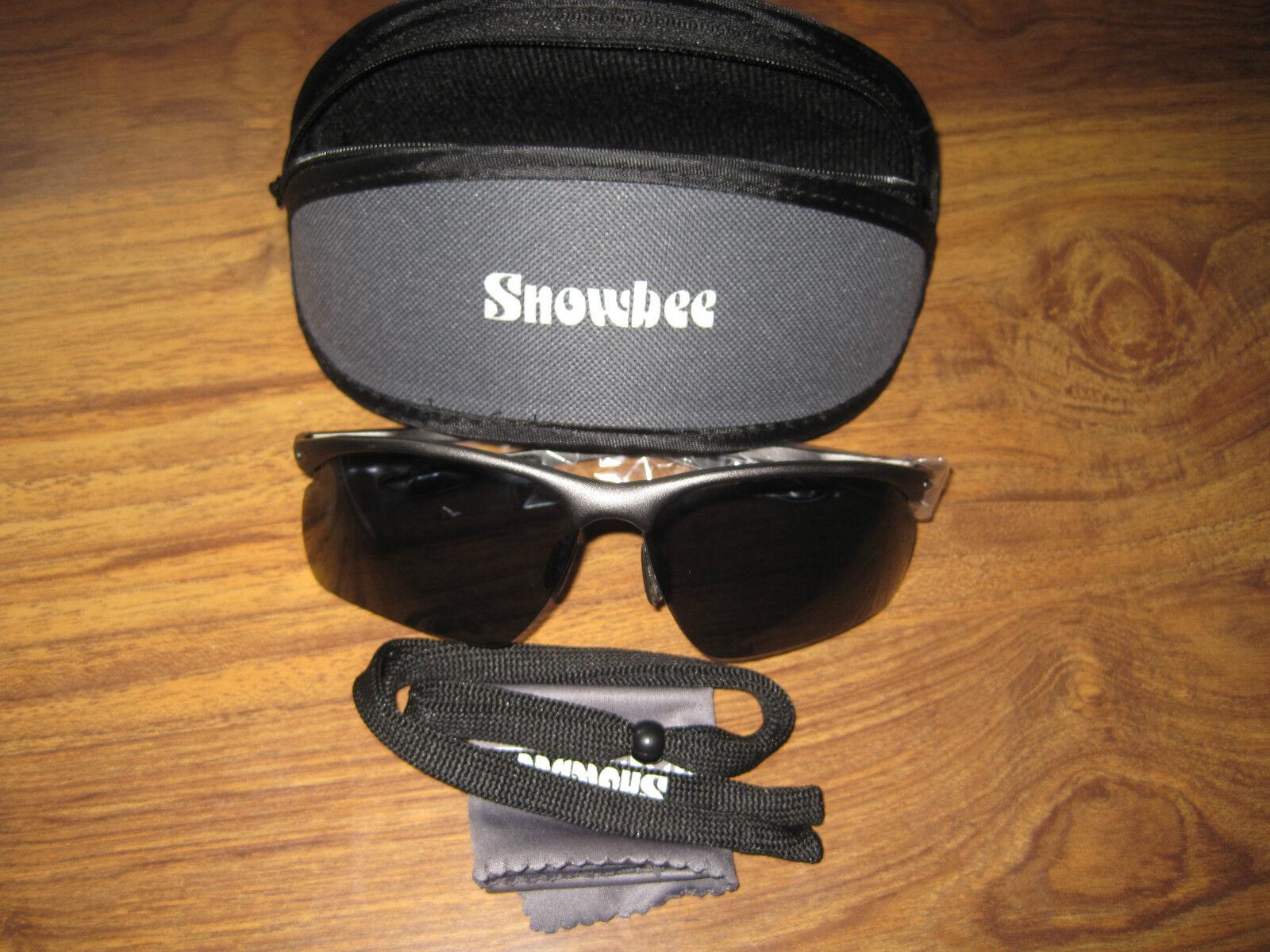 Snowbee Polarizzati Sport Pesca Sportiva Occhiali da sole + Morbida Custodia Morbida + & Cordoncino Grigio fumo 4d1df6