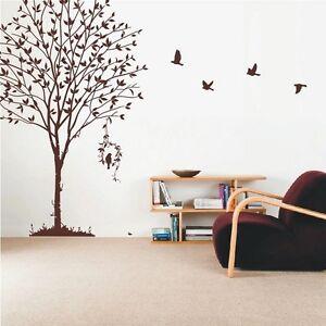 Wall Stickers Tree Flower Kids Art Murals Decals Butterfly Home Vinyl Decor-P374