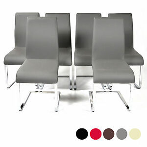 Image Is Loading Charles Jacobs High Back Dining Chairs Chrome Legs