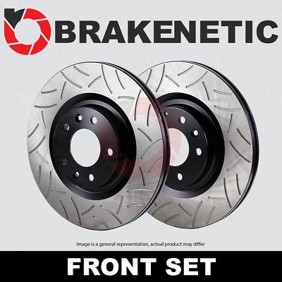 BRAKENETIC PREMIUM Drilled Slotted Brake Disc Rotors BNP50028.DS FRONT SET