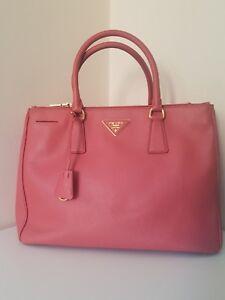 91c4c30597b1 ... wholesale image is loading prada saffiano lux double zip tote tamaris  leather a2a33 b4193