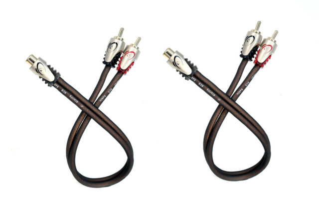 KnuKonceptz Klarity RCA Cable Y Adapter 1 Female to 2 Male RCA Splitter Pair (2)