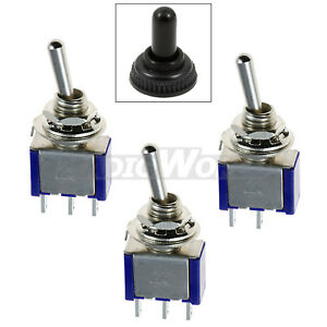 Mini Miniature Toggle Switch Waterproof Cover On Off On