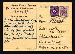 Germany-Uprated-AM-Postal-Card-Creasing-Sm-Top-Tear-Z17196