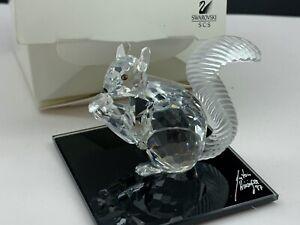 Swarovski-Figurine-208433-Crystal-Large-Scs-Squirrel-7-5-Cm-Boxed-amp-Certified