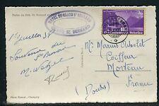 Suisse - Oblitération de Grand St Bernard sur cp pour Morteau en1938 réf F86
