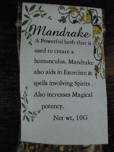 Mandrake-root-Herb-America-spells-herbs-Spell-Supplies-Pagan-Incense-Witchcraft