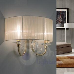 Applique lampada parete design moderno cromata oro cristallo ...