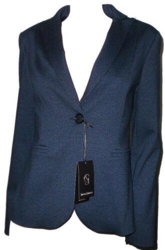 Donna Blazer Giacca Invernale Aderente 44 Elegante Blu Simona Grimaldi Scuro ZSnxOaCwq