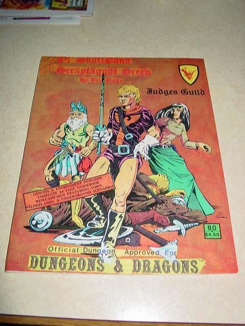 Judges Guild - Of Skulls and Scrapfaggot Grün - Official D&D - Vintage