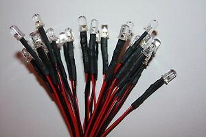10x-5mm-LED-rund-verkabelt-15cm-LEDs-Widerstaende-5mm