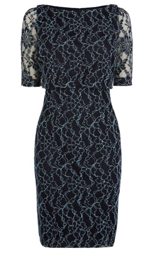 Beautiful COAST Mia Lace Dress , Navy ( size ) bnwt