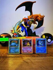 Pokemon Cards Glurak Turtok BISAFLOR Charizard Base Set 1. Edition proxy No Holo