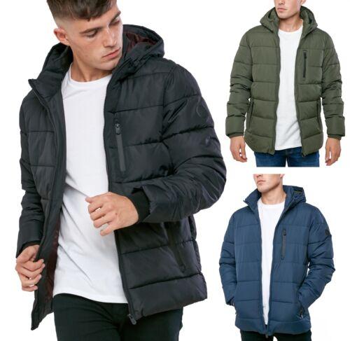 Con Moderno Matrix C Acolchada Quilt Capucha Chaqueta Hombre gq4wX5xX