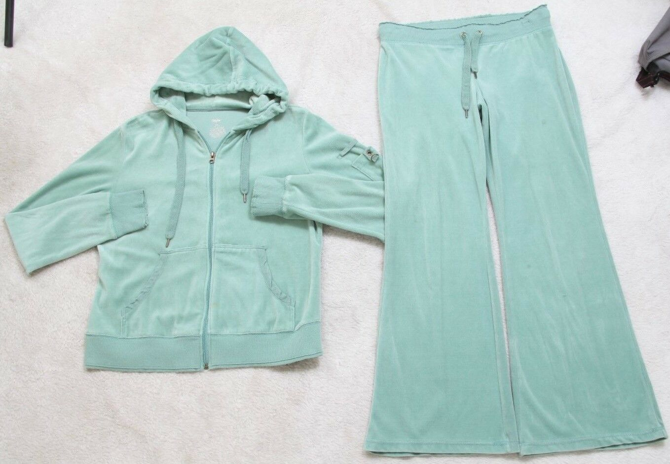 Mossimo XXL Hoodie Sweats Hoodie Set Zip Front Suit Jogger Green Women's Solid