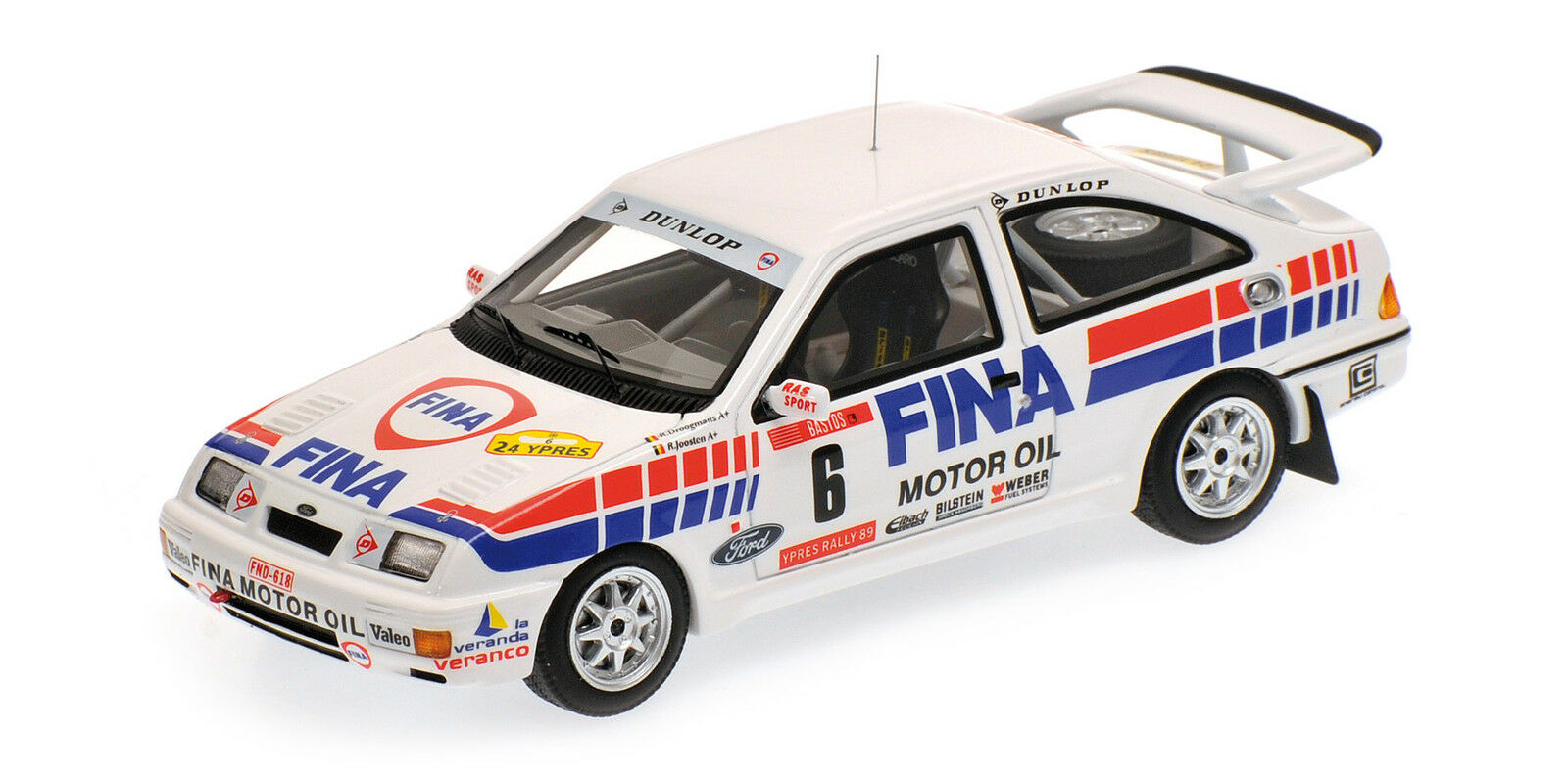 Ford Sierra Rs Cosworth Fina DrogFemmens Joosten Winner Rally Ypres 1989 1:43 | Finement Traité