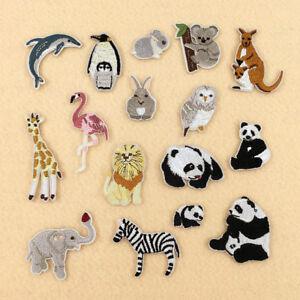 1-10Pcs-Animal-Embroidery-Patches-Appliques-Sew-Iron-On-Clothes-Bag-Craft-Decor