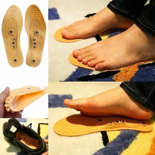 Magnetic Massage Shoe Insoles Gel Pad Therapy Acupressure Foot Pain Relief Q