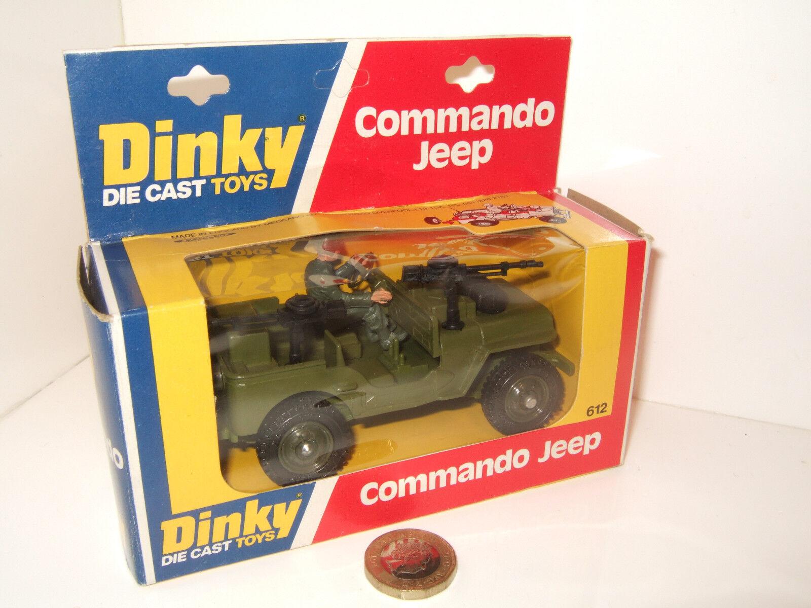 Ahorre 60% de descuento y envío rápido a todo el mundo. Rara Vintage Dinky Juguetes 612 Commando Commando Commando Jeep & Controlador en caja original de la imagen.  El ultimo 2018