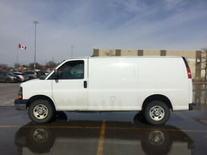 2013 Chevrolet Express White Cargo Van