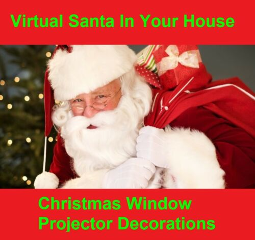Virtual Santa In The Window Christmas Decorations /& holograms Projector FX