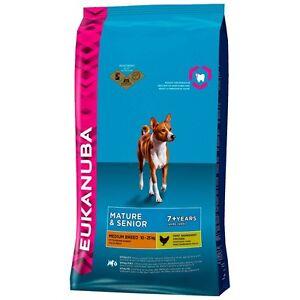 2-x-12-kg-Eukanuba-Mature-Senior-Medium-Large-Breed-Dog-Food-Seulement-31-25-chacun