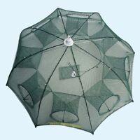 Fishing Net 8 Holes Sturdy Fish Trap Foldable Umbrella Design Cast Mesh Cage