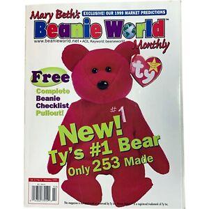 TY BEANIE BABY Babies - Mary Beth's Bean Bag World Magazine Vol. 2, No. 5