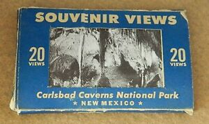 260#J-- Cards Post Souvenir Post Cards Carlsbad Caverns Vintage