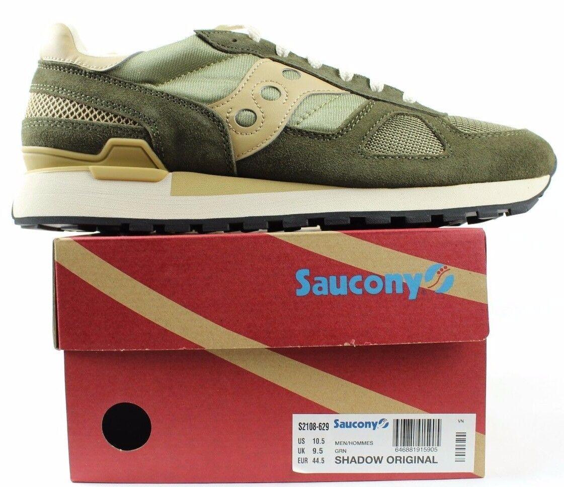 Saucony Para Hombre Saucony Shadow Original S2108-629 verde Beige Tamaño 10.5