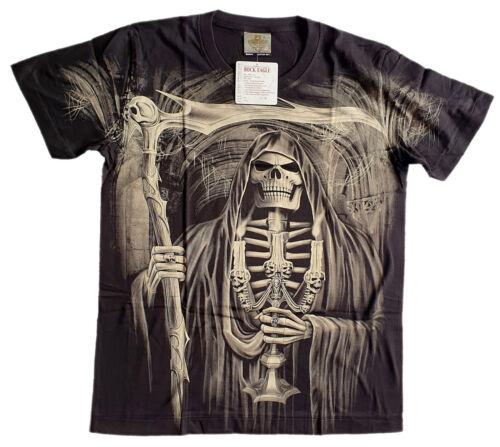 Faucheuse Skull T-shirt M L Xl 2xl 3xl Faucille tete de mort Motif Oversize Cadeau