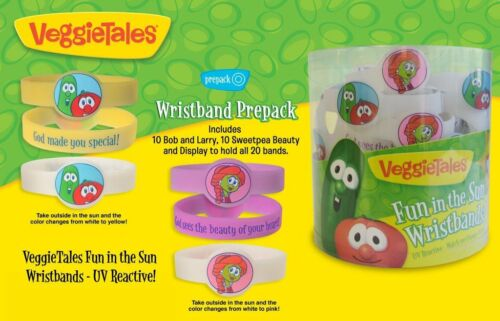 Enesco Gregg Gift Color changing Wristband Veggie Tales New # 4031672