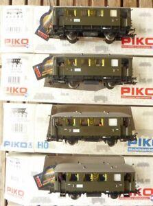Piko-H0-AC-3-L-4-teiliges-Set-Windbergwagen-der-DRG-Epoche-2-Innenbeleuchtung