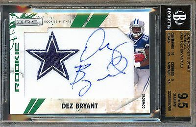 #/5 Pop 1 Bgs 9.5 10 Auto Rc Star Jersey Dez Bryant 2010 Rookie Signed Autograph