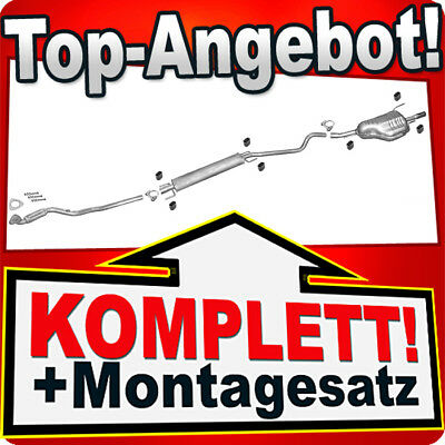 1.6 55KW Auspuff Endtopf Mitteltopf Auspuffanlage Opel Astra G CC 1.4 66KW