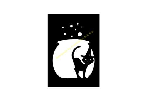 Halloween Stencil gorgogliamento Calderone CAT A5//A4//A3//A2//A1//A0 350 µ Hall 041
