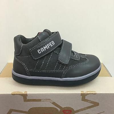 Camper Pursuit Infant Boys Boots In Dark Grey/Suede Leather ( K90286-038)