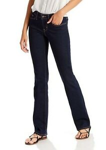 Levi's Women's Dark Blue 715 Modern Fit Boot Cut Denim Jeans-NWT-Size 25X32