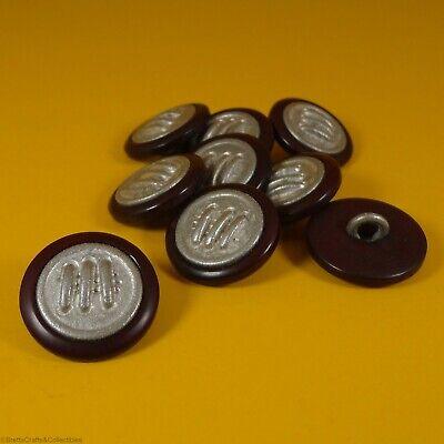 Horse Head Cast Metal Buttons 9 per bag 14mm x 2mm Shank Buttons