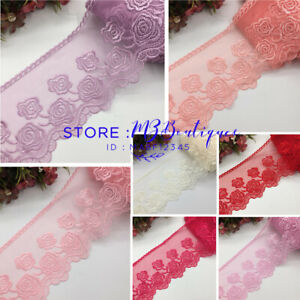 FP70-11-13cm-1-Yard-Dress-Skirt-Handicrafts-DIY-Embroidered-Net-Lace-Trim-Ribbon