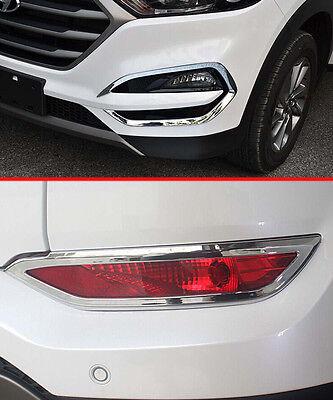 Triple Chrome Front Fog Light Cover Trim for Hyundai Sonata MK8 2011-2014 Trims