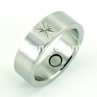 All Silver Stainless Steel Magnetic Ring (size 6, 7, 8, 9, 10, 11, 12 )