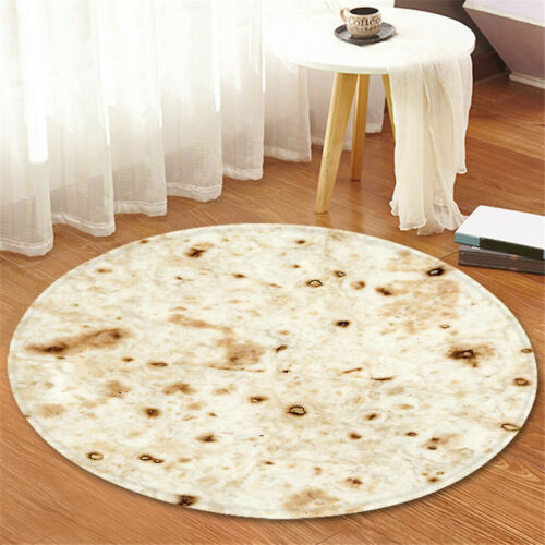 "Tortilla Blanket Burrito 60/"" Blanket Corn and Flour Tortilla Throw 60CM 2019"