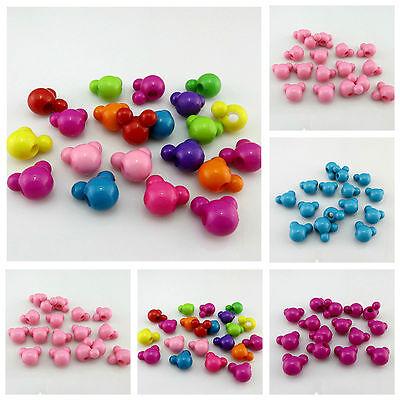 Mixed Acrylic Flat Oval Beads 15 x 19mm 10 Pcs Art Hobby Jewellery Making Crafts