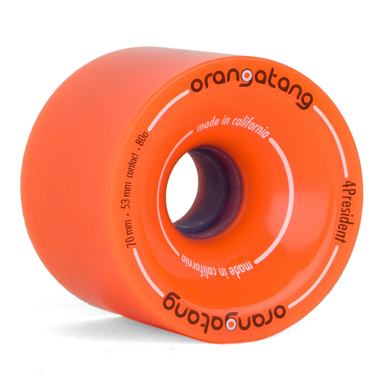 Orangatang 4 President Wheels Longboard Rollen 70mm 80A orange - Slalom Cruisen